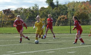 Women's soccer's 39 goals ranked third in the OUA East this season.
