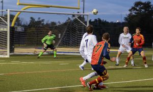 Andrew Martin's goal in the 23rd minute tied the Gaels' match at 1-1.