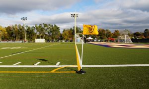 The artificial turf field at West Campus was the subject of many noise complaints from nearby residents.