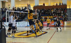Outside hitter Phillippe Goyer recorded 10 kills during two games over the weekend.