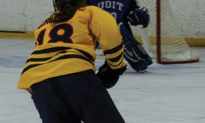 Gaels captain Shawna Griffin was one of four Gaels to record three points against the UOIT Ridgebacks on Saturday.