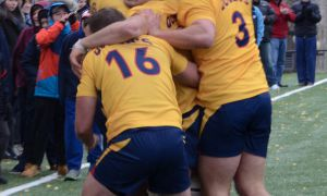 Captain Jacob Rumball (3) earned OUA MVP honours. Five other Gaels were named OUA All-Stars.
