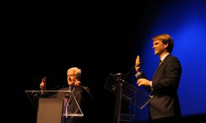 """Bob Rae, left, and Chris Alexander debated Sir John A. Macdonald's legacy and whether he was the """"greatest"""" prime minister."""
