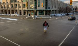 Students often jaywalk at University Ave. and Union St., regardless of traffic lights or official crossings.