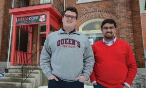 Brendan Goodman, left, and Jon Wiseman say they'll work to make student government accessible.