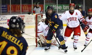 Captain Shawna Griffin (18) is tied for the team lead in points this year, with 19 through 17 games.