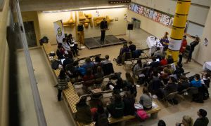 The EngSoc presidential debate took place in the atrium of the ILC on Wednesday night.