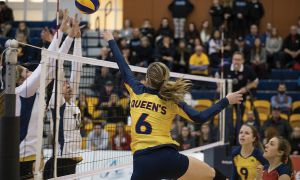 Outside hitter Shannon Neville tallied 10 kills in the Gaels' straight-set win over Ryerson.