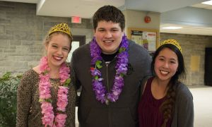 From left: Hannah Ramsay, David Wiercigroch and Sarah Chin.