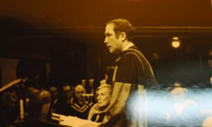 Pierre Trudeau addressing 1968 convocation.