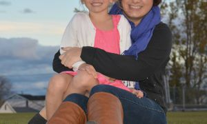 Logan Weaver and her daughter Kennedy.