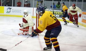 Men's hockey topped the RMC Paladins 5-1 last Thursday in the Carr-Harris Cup. They're down 1-0 in their first-round playoff series with the Laurentian Voyageurs.