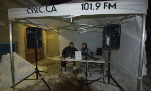 CFRC's booth outside St. Andrew's Church.