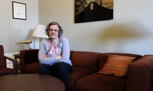 Chaplain Kate Johnson runs an office in the JDUC.