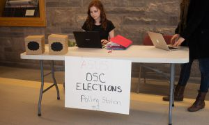 A polling station was set up in the JDUC Monday for DSC elections.