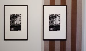 Two photographs that depict a fluttering awning.