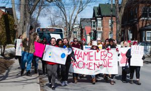 Marchers protest rape culture at the Shameless Promenade, formerly known as SlutWalk.