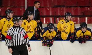 After racking up 262 points in four OHL seasons, Brett Gibson turned to coaching and has been the Gaels' head coach since 2006.