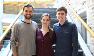 From left: Justin Reekie, Allison Williams and Philip Lloyd, or Team WRL.