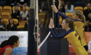 Livingston (foreground) and Blumentrath (not pictured) were two bright spots on the Gaels in their first year.