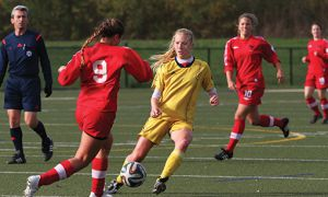 Jesse de Boer was one of four Gaels at the OUA Soccer Showcase.