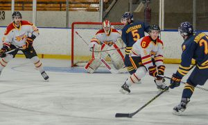 Darcy Greenaway, Spencer Abraham and the men's hockey team take on the McGill Redmen on November 28.