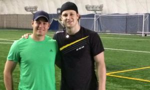 Pianosi (left) has been training Nathan MacKinnon for over 5 years.
