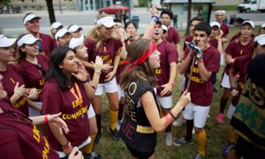 """Commerce Orientation Week was placed on probation in October 2014 for """"verbally abusive and profane taunts to students"""" and """"relentless required running""""."""