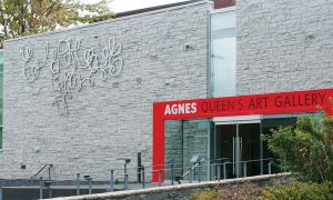 The Agnes Etherington Art Gallery located on the corner of Bader Lane and University Ave.