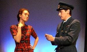 Domino Theatre actors onstage during their production of Letters in Wartime.