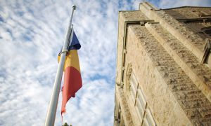 Flags on campus were lowered after the passing of first-year student Andrea Mariano on Sept. 17.