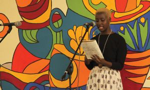 Yema Quinn performs at OPIRG's Take Back The Mic on Sept. 19.