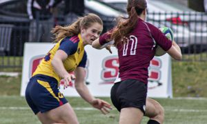 Emma Chown (left) has been a key player early-on for the Gaels this season.