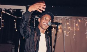 Rapper John River onstage during his concert at The Mansion.