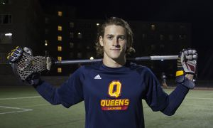 Ryan Wagner splits his lacrosse playing duties between field lacrosse at Queen's and box lacrosse with the Niagara Thunderhawks and St. Catherines Athletics.