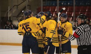 Men's hockey certainly had a lot to celebrate with a seven-goal outburst against RMC.