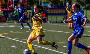 After winning 1-0 in extra time, the Women's soccer team will face off against the Laurentian Voyageurs in the quarterfinals of the OUA playoffs.