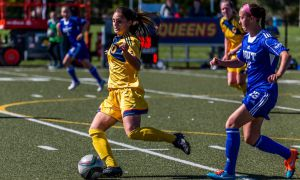 Women's soccer earned a final four berth following 2-1 against Laurentian.
