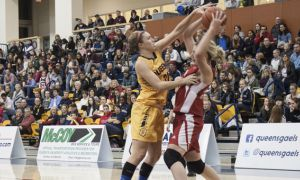 Jenny Wright (above) was key to the Gaels victory. She scored 15 points in the win, adding nine rebounds, four assists and one steal over 33 minutes.