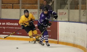 Western defeated Queen's 4-1 on Saturday night.