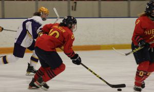 Courtenay Jacklin tallied four point against Laurier.