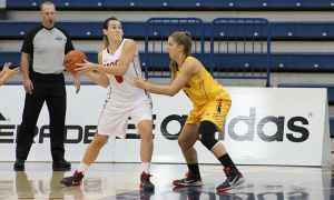 Robyn Pearson currently sits at first in the OUA in rebounds.