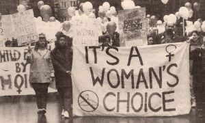 A 1989 pro-choice rally at Queen's.