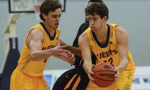 Kingston native Tanner Graham (right) has become a key player for the Gaels.
