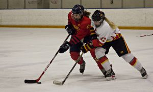 Queen's managed 73 shots in 4-3 double-overtime win day after shutout loss.
