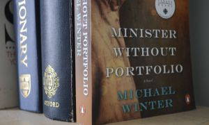 Canadian author Michael Winter's novel Minister Without Portfolio explores the protagonist's hardships after his return from an army-affiliated contractor job.