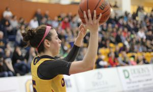 Emily Hazlett played 38 minutes on Saturday night.