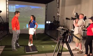 Dr. Scott Lynn (left) has become a leader in golf biomechanics research since he moved to California in 2008.