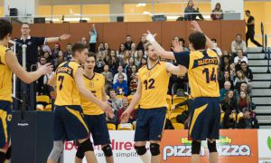 Men's volleyball key matchup is against the Ryerson Rams on November 4.