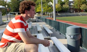 Spencer Belyea contemplates student support for the Queen's football program.